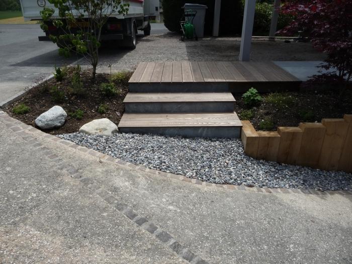 paysagiste evian les bains escaliers bois