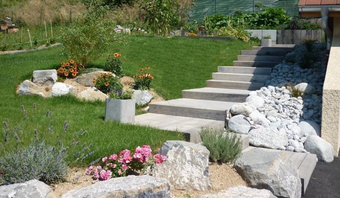 paysagiste thonon les bains escaliers soutènement